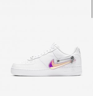 Nike Air Force 1 zip swoosh
