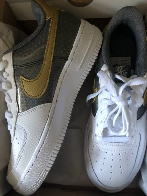 Nike Air Force AF1 Low sneaker Schuhe  36 37 limitiert  Gold metallic Reptil Offwhite