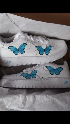 Nike air force one mit custom schmetterling