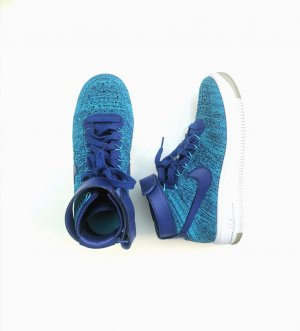 Nike Air Force Ultra Flyknit Mid Blue Lagoon Freizeitschuh blau