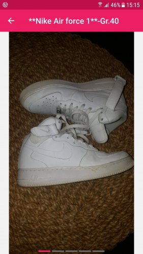 Nike Air Force1--weiss