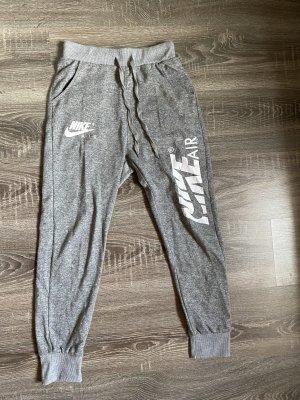 Nike Air Jogginghose sporthose grau weiß meliert