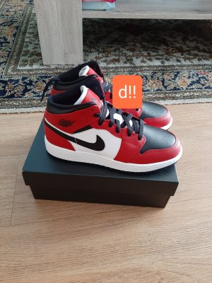 nike air jordan 1 chicago ORIGINAL MIT RECHNUNG rot weis in 36.5 neu
