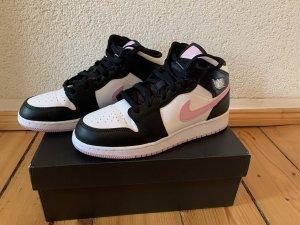 Air Jordan Sneaker alta color oro rosa-nero