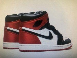 Air Jordan Sneaker stringata nero-rosso lampone