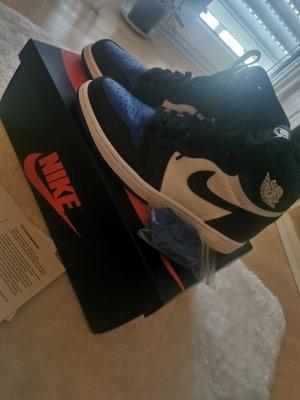 Air Jordan Wysokie trampki niebieski Skóra