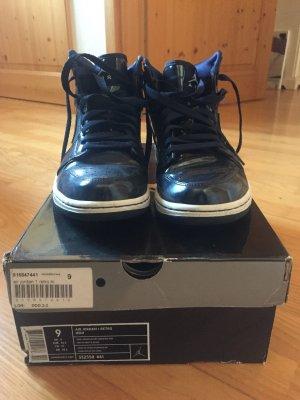 Air Jordan Basket montante bleu foncé-blanc