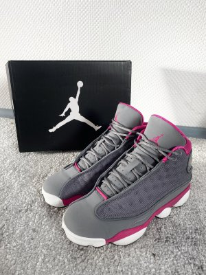 Nike air Jordan 13 VIII cool grey fusion pink White 36