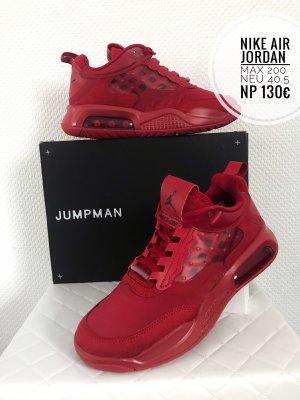 Air Jordan Lace-Up Sneaker red