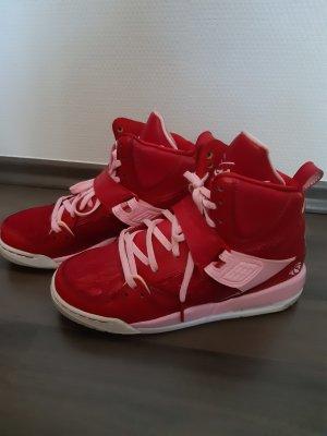 Air Jordan Wysokie trampki czerwony-różowy