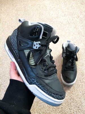 Nike Air Jordan Spizike BG Black/ Cool Grey Gry Mist-White 39