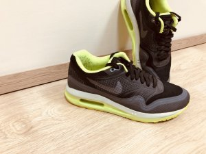 NIKE AIR LUNAR gr. 37,5 Sneakers Schwarz / Volt / reines Platin / Dunkelgrau