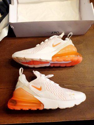 Nike Air Max 270 Weiß Orange Sneaker Schuhe 39/ 40