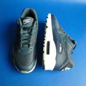 Nike Air Max 90 Mesh (GS), blau, 1 x getragen, Größe 4,5 y EUR 36,5