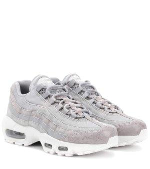 Nike Zapatillas altas gris claro-blanco