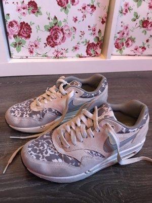 Nike air Max Blumen Print Muster weiß grau sneaker Turnschuhe