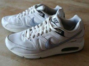 Nike Zapatillas con tacón blanco-color plata