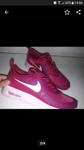 Nike Zapatillas altas blanco-púrpura