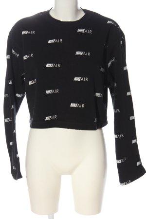 Nike Air Sweatshirt schwarz-weiß Allover-Druck Casual-Look