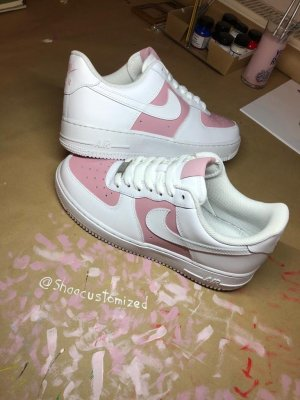 Nike Airforce 1 customized dusty pink