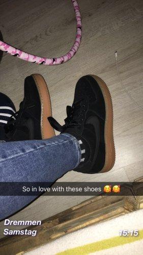Nike Sneakers met veters zwart-bruin