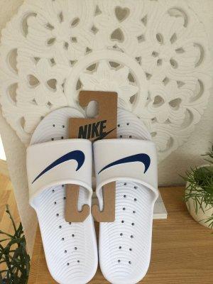 Nike Sandalias de playa blanco-azul
