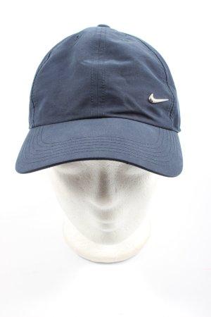 Nike Basecap blau Motivdruck Casual-Look