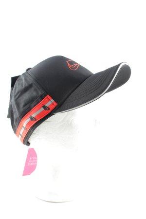 Nike Basecap schwarz-hellorange Schriftzug gedruckt Casual-Look