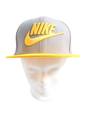 Nike Basecap hellgrau-blassgelb Schriftzug gestickt Casual-Look