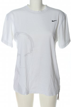 Nike Basic-Shirt weiß Motivdruck Casual-Look