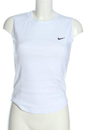 Nike Basic topje wit geborduurde letters casual uitstraling