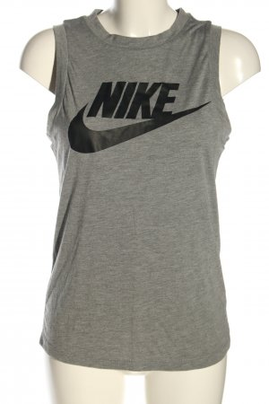 Nike Basic Top hellgrau-schwarz meliert Casual-Look