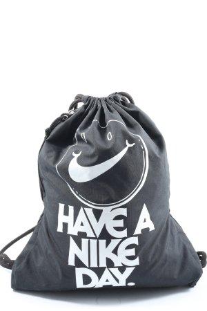 Nike Beuteltasche schwarz-weiß Motivdruck Casual-Look