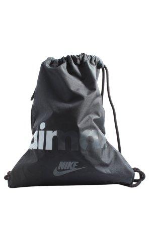 Nike Beuteltasche hellgrau Schriftzug gedruckt Casual-Look