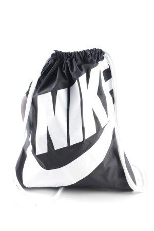 Nike Beuteltasche schwarz-weiß sportlicher Stil