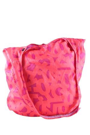 Nike Beuteltasche pink-blau abstraktes Muster Casual-Look