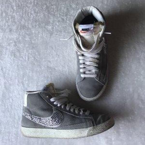Nike Blazer, grau, Glitzersteine, 38