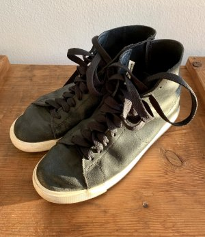 Nike High top sneaker zwart Leer
