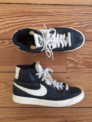 """Nike """"Blazer"""" Leder Sneaker High Top Glattleder schwarz 38"""