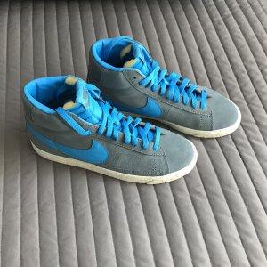 Nike Sneakers grey-neon blue