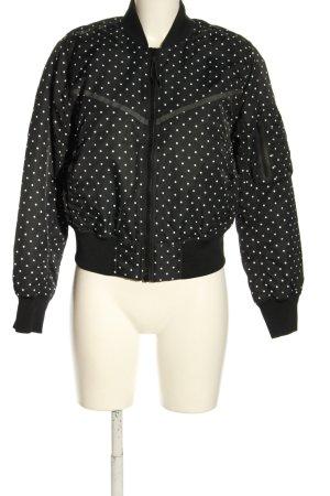 Nike Bomberjack zwart-wit gestippeld patroon casual uitstraling