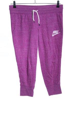 Nike Caprihose lila meliert Casual-Look