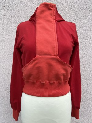 Nike Crop Hoodie Sweatshirt Gr. S rot/orange