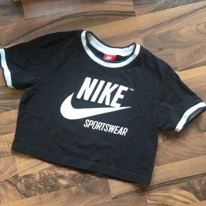 Nike T-shirt court noir-blanc