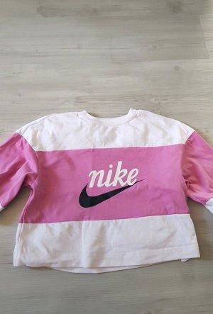 Nike Cropped shirt wit-roze