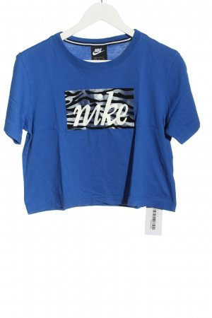 Nike Cropped Shirt Motivdruck Casual-Look