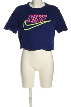 Nike Cropped Shirt Schriftzug gedruckt Casual-Look