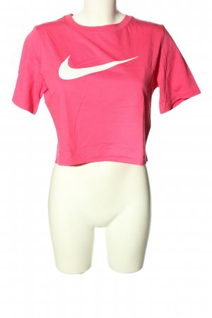 Nike Cropped Shirt pink Motivdruck Casual-Look
