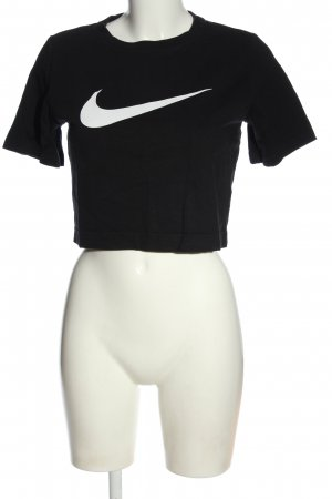 Nike Cropped Shirt schwarz Motivdruck Casual-Look