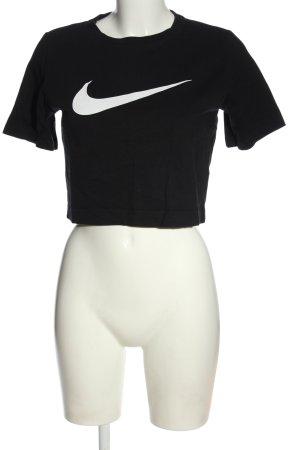 Nike Cropped Shirt schwarz Motivdruck Casual-Look